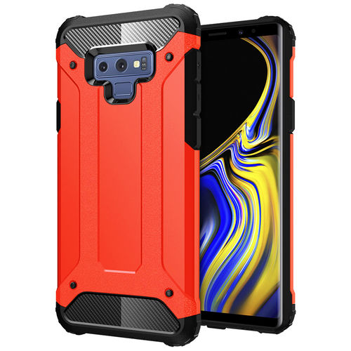 Military Defender Shockproof Case for Samsung Galaxy Note 9 - Red